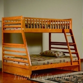 Yuan Tai 9080-OAK Oak Twin/Full Bunkbed