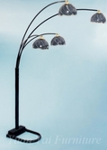 Yuan Tai 9084BK Black Finger Floor Lamp