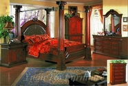 Yuan Tai 9602K(TV)-SET SET - Sophie King Bed w/TV Armoire