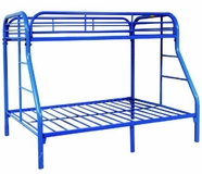 Yuan Tai 9701-BU Blue Twin/Full Bunkbed