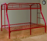 Yuan Tai 9701-R Red Twin/Full Bunkbed