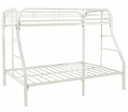 Yuan Tai 9701-W White Twin/Full Bunkbed #9700W