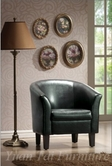 Yuan Tai 9850-BK Black PU Accent Chair