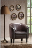 Yuan Tai 9850BR Dark Brown PU Accent Chair