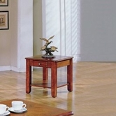 Yuan Tai AB332E Abner Oak End Table