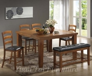 Yuan Tai AD110PT/4C/1B-6 SET - Adobe Table/4Chairs/1Bench/LS