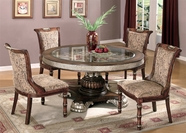 Yuan Tai AD4550T-51S-4 SET - Adrienne Round Table 5 Pcs
