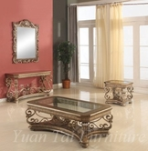 Yuan Tai AR1611CT-1612C-1613E Armelle-Console-Cocktail-End-Table Set