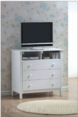 Yuan Tai AV1384MC Avalon White Media Chest