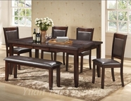 Yuan Tai AV140T/4S/1B-6 SET - Avenue Table w/4 Side+1 Bench