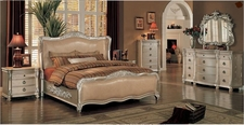 Yuan Tai Be7001K Bellevue King Bed W/ Leather