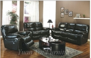 Yuan Tai - Black 6822-S-BK-6822-L Living Room Set