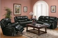 Yuan Tai - Black 6888-S-BK-L-BK 2 Piece Living Room Set