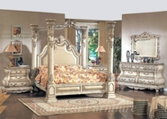 Yuan Tai CA6620Q Calidonian Whitewash Queen Bedroom set