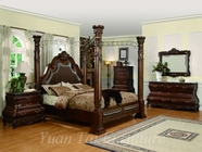 Yuan Tai CA7730Q-CA7736M-7737DR-Calidonion-Bed-Mirror-Dresser Bedroom Set