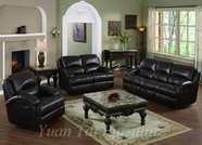 Yuan Tai CA8626BR-SET(3) SET - Capri Brown Recliners 3 Pcs