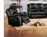Yuan Tai CL8813C-BK Clermont Black Recliner Chair