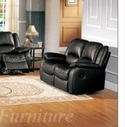 Yuan Tai Cl8813L-Bk Clermont Black Recliner Loveseat