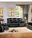 Yuan Tai CL8813S-BK Clermont Black Recliner Sofa