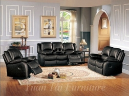 Yuan Tai Clermont Cl8813-Bk Leather Reclining Sofa Set
