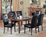 Yuan Tai CR4273T(74S)-6 SET - Crescent Table w/6 BRN Chairs