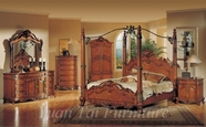 Yuan Tai CR7400Q(TV)-SET SET - Crawford Queen w/TV Armoire