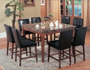 Yuan Tai CR7881T(83S)-6 SET - Crescent Table w/6 BRN Chairs