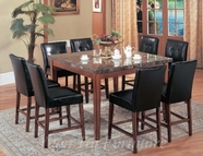 Yuan Tai CR7881T(83S)-8 SET - Crescent Table w/8 BRN Chairs