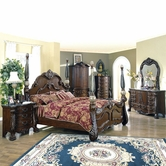 Yuan Tai DA1000Q Dante Queen Marble Poster Bedroom set