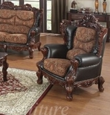 Yuan Tai EM3620C-CH Empire Chair - Chocolate Leather