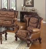 Yuan Tai EM3621C Empire Chair - Lite Brown Leather