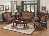 Yuan Tai - Empire EM3620S-EM3620L Dark Chocolate Leather Living Room Set