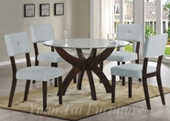 Yuan Tai FL610T(621S)-4 SET - Flores Table w/4 Wegas Chairs