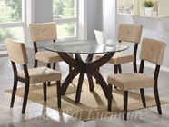 Yuan Tai FL610T(622S)-4 SET - Flores Table w/4 Wegas Chairs