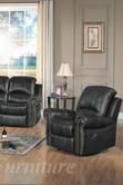 Yuan Tai GR8811C-BK Gretha Black Recliner Chair