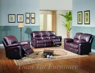Yuan Tai KE8895-BGDY-3PC SET - Kent Burgundy Recliners 3 Pcs