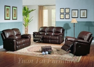 Yuan Tai KE8896-BRN-3PC SET - Kent Brown Recliners 3 Pcs