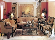 Yuan Tai - Madon MA1038S-MA1038L Leather and Fabric Living Room Set