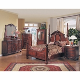 Yuan Tai MD1000Q Madina Queen Poster Bedroom set