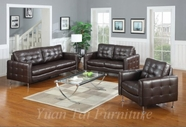 Yuan Tai MN1200-BR-3PC Monaco Brown 3 Pc Set