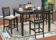 Yuan Tai MR6130T-C-4 Mirage Pub Table 5Pc Set