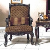 Yuan Tai NA1033A Natalie Fabric/Woodtrim Arm Chair