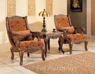 Yuan Tai NA2033A Natalie Fabric/Woodtrim Arm Chair