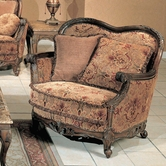 Yuan Tai NA2033C Natalie Fabric/Woodtrim Chair