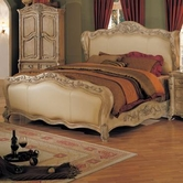 Yuan Tai NC8000Q Nicia Queen Bed w/ Leather