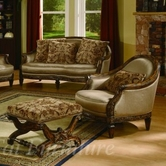 Yuan Tai NT7750A/OTT Nottingham Arm Chair and Ottoman