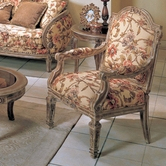 Yuan Tai OR1333C Orchard Fabric/Woodtrim Chair