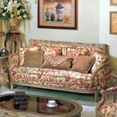 Yuan Tai OR1333S Orchard Fabric/Woodtrim Sofa