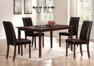 Yuan Tai PA901T(905S)-4 SET - Parker Table w/4 Brown Chairs