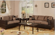 Yuan Tai - Saddle 4672S-SD-4673L-SD 2 Piece Living Room Set